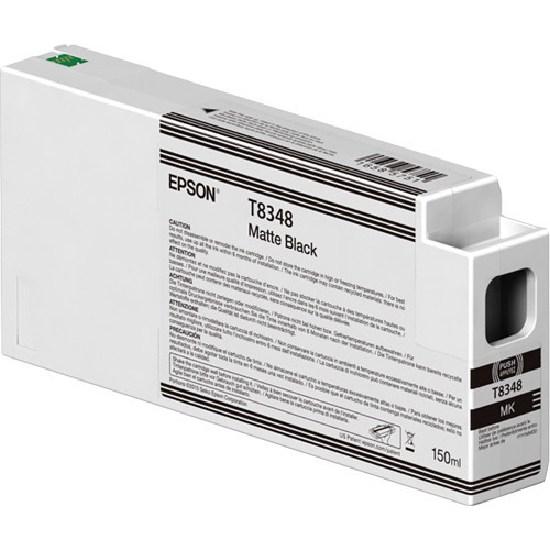 Epson T834800 UltraChrome HD Matte Black Ink Cartridge (150ml)