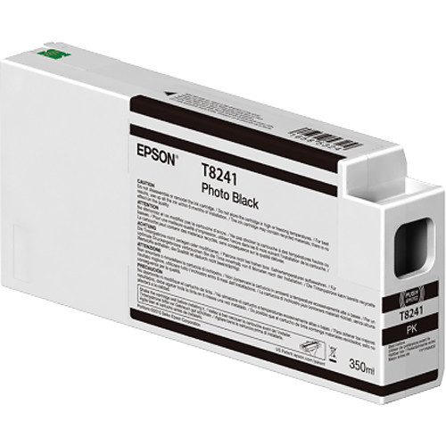 Epson T824100 UltraChrome HD Photo Black Ink Cartridge (350ml)