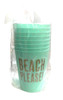 Beach Please! Plastic Cups (Set of Eight)