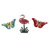 Rhinestone Pins (butterflys, flamingo)