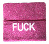 Open @ Your Own Risk | Pink & White Beaded Foldover Clutch