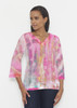 Before & Again | Banded 3/4 Bell Sleeve Tunic | Tiki Pink