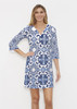 Before & Again | Banded Coverup Dress | Portugese Blue