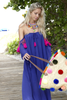 Sundress | Venus Dress | Royal Blue & Pink