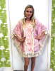 Lace Cover Up with Fringe | Pink