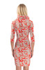 Gretchen Scott Plentiful Paisley 3/4 Sleeve Ruffneck Jersey Dress | Red/Khaki