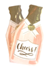 Cheers! Champagne Bottle Dye Cut Napkins | Set of 2 | 20 Ct.