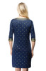 Gretchen Scott Rocket Girl Dress | Navy/Gold | Insta