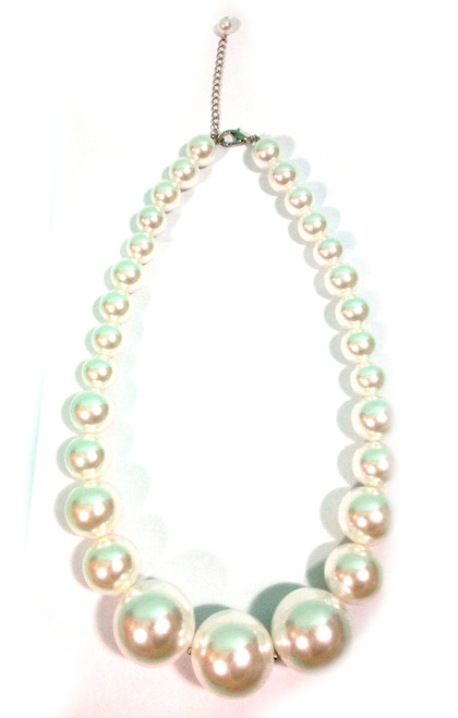 Graduated Long Pearl Necklace