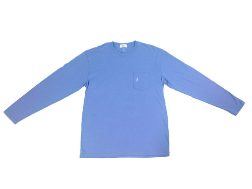 Johnnie-O Vista Blue Long Sleeve Graphic Tee