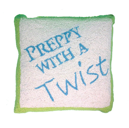 Preppy With A Twist Pillow Lime