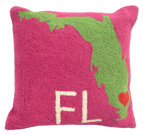 Florida Pillow Delray Heart Pink