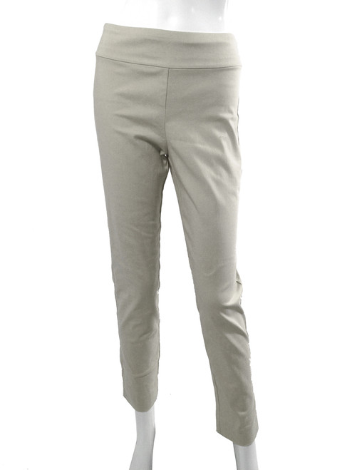 Krazy Larry Pull On Ivory Ankle Pant