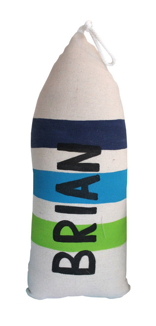 Custom Buoy Pillow Blue and Green