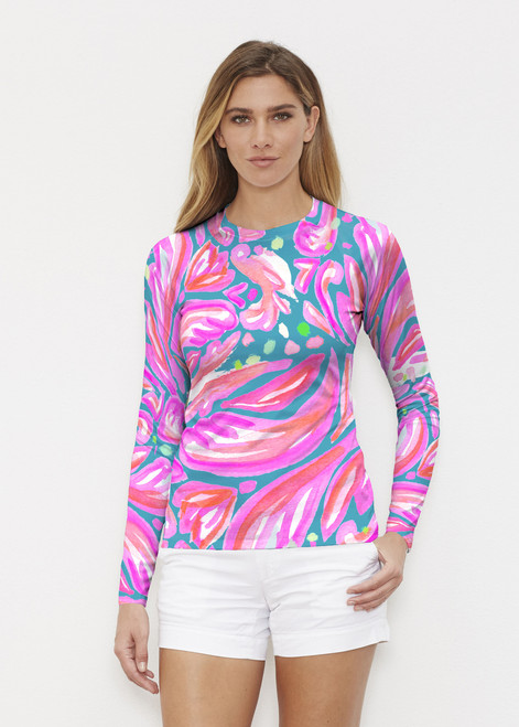 Before & Again   Long Sleeve Active Top   Fiona Pink