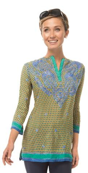Gretchen Scott Silk Embroidered Tunic | Poco Paisley