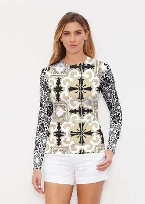 Whimsy Rose | Long Sleeve Active Top | Portuguese Gold