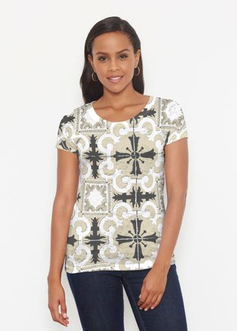 Whimsy Rose | S/S Scoop Neck Tee | Portuguese Gold