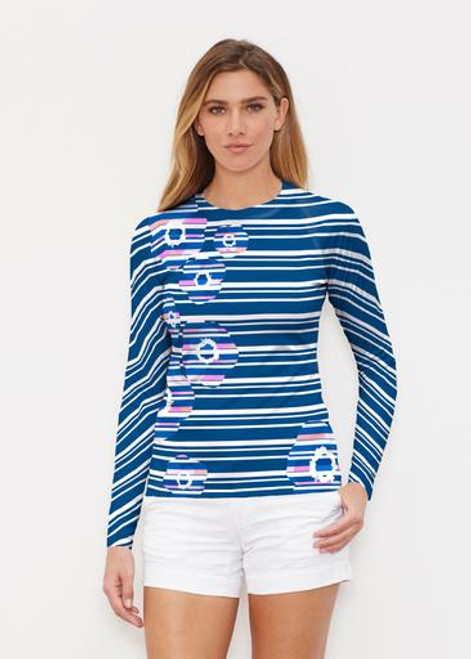 Whimsy Rose | Long Sleeve Active Top | Refracted Poppy Navy