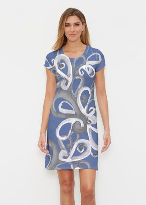 Whimsy Rose | Classic Crew Dress | Watercolor Paisley