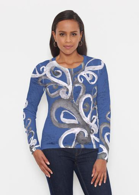 Whimsy Rose | Crew Neck Long Sleeve | Watercolor Paisley