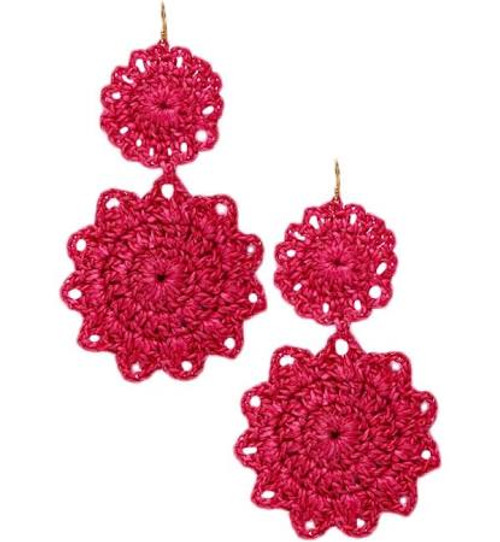 Macrame Earrings | Berry
