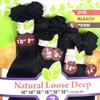 Saga Naked Brazilian Virgin Remy Hair Weave Natural Loose Deep 7pcs