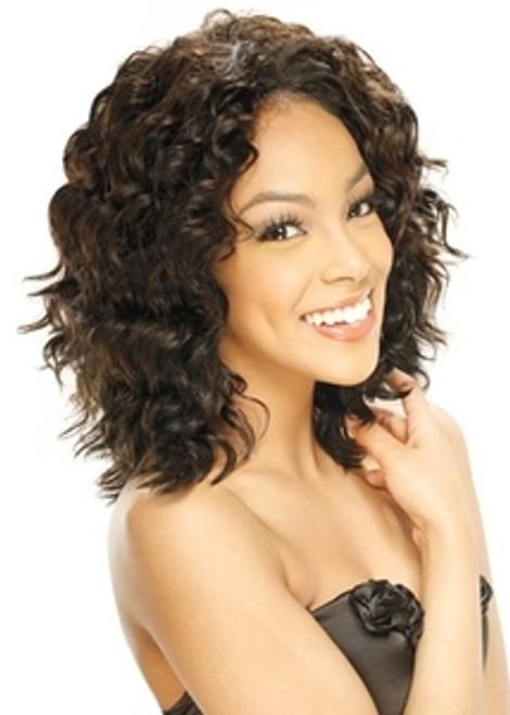 Model Model Cuticle Remy Qutix Twist Deep 3pcs Weave Hair- COLORS 1, 1B, 2, 4