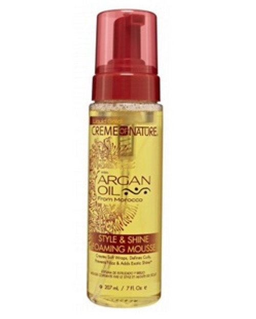 Creme Of Nature Argan Oil Style & Shine Foam Mousse 7oz