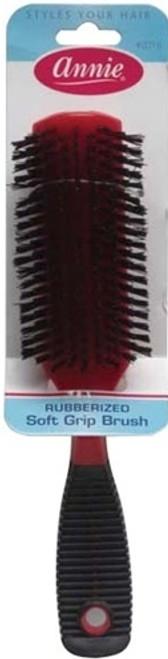 """Annie Rubberized Soft Grip Hair Brush #2018 8""""x 2"""""""
