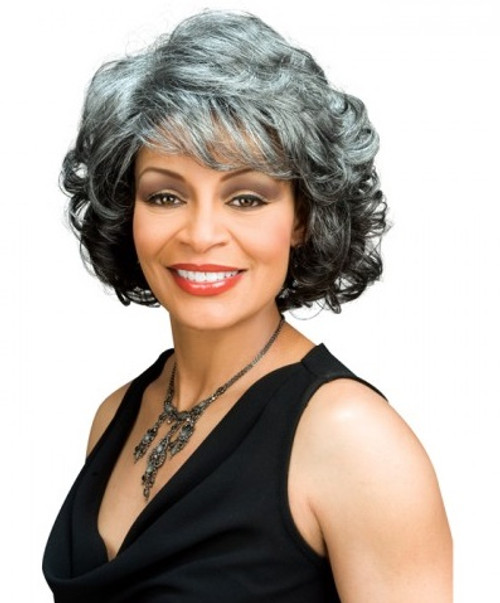Alicia Foxy Silver Synthetic Wig - Barbara