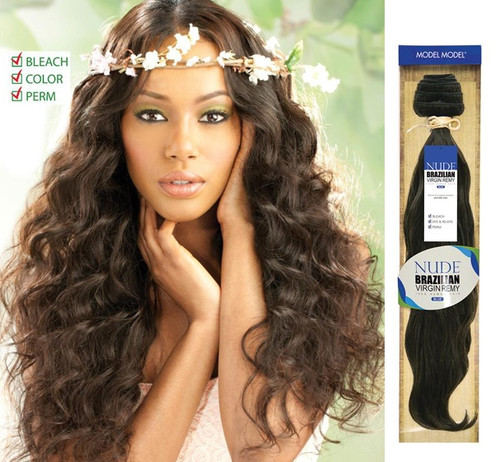 "Nude Brazilian Virgin Unprocessed Remy Human Hair Weave - Blue- 16""-26"""