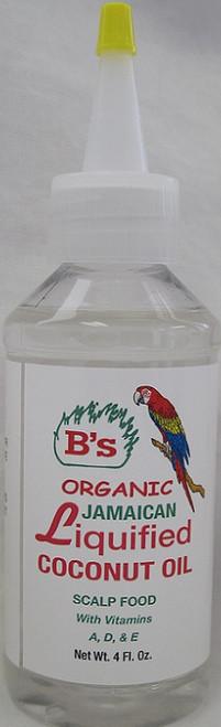 B's JAMAICAN LIQUIFIED COCONUT OIL- 4oz
