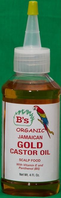 B's JAMAICAN GOLD CASTOR OIL SCALP FOOD- 4oz