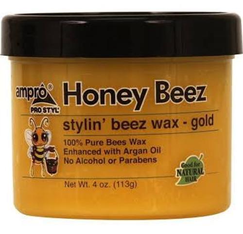 Ampro Pro Styl Honey Beez Stylin Beez Wax Gold- 4oz