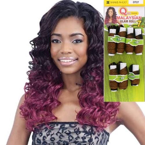 Que Human Hair Mastermix Weave - GLAM ROLL 7 BUNDLES