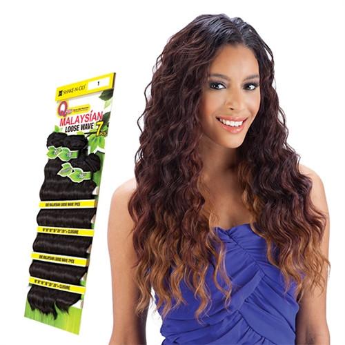 """Milky Way Que Human Hair Blend Malaysian Loose Wave 7 Bundle (16"""", 18"""", 20"""")"""