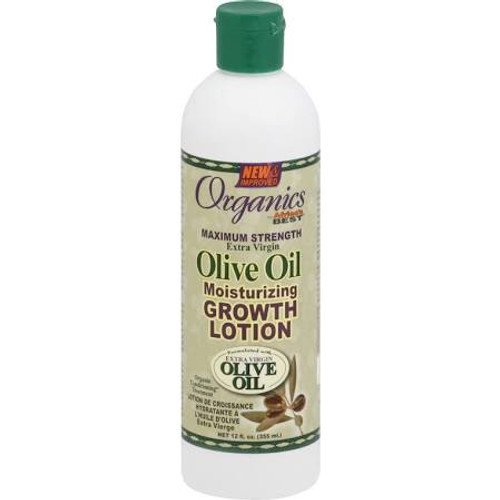 Africa's Best Organics Extra Virgin Olive Oil Moisturizing Growth Lotion, Maximum Strength - 12oz