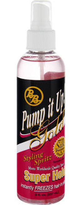 BB Pump it Up! Gold Styling Spritz, Super Hold - 8oz