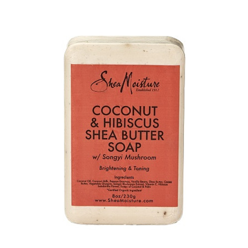 SheaMoisture Coconut & Hibiscus Shea Butter Soap- 8oz
