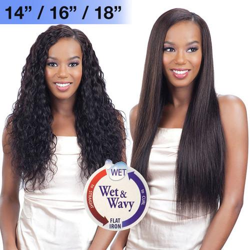 """MODEL MODEL NUDE FRESH WET & WAVY 100% BRAZILIAN VIRGIN REMY HAIR WEAVING LOOSE WAVE CURL 7PCS (18"""" 20"""" 22"""")"""