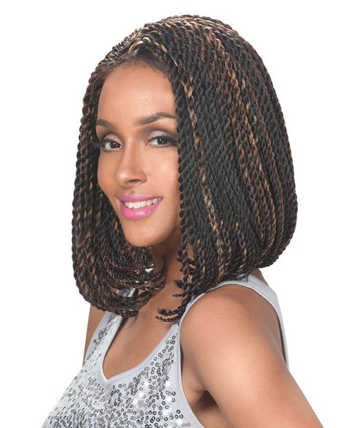 Sister Wig Afro Braid with Baby Hair Synthetic Lacefront Wig- LACE BRAID BOB SENEGALESE