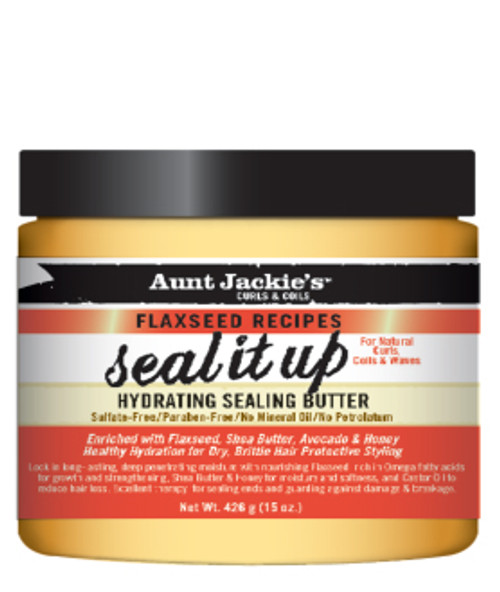 Aunt Jackie's Curls & Coils Seal it Up Hydrating Sealing Butter with Flaxseed 7.5oz
