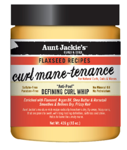 Aunt Jackie's Curls & Coils Curl-mane-tenance Defining Curl Whip with Flaxseed 15oz