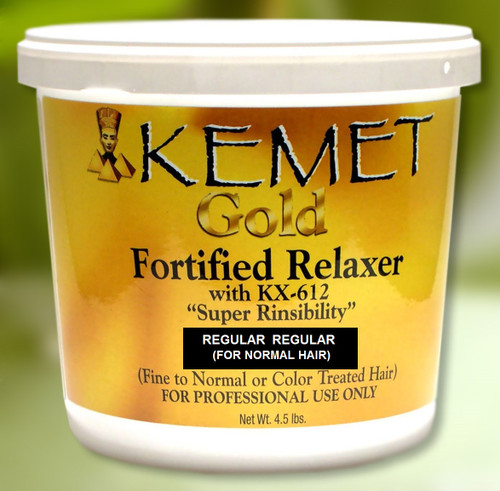 Kemet Gold Fortified Relaxer with Super Rinsibility For Normal Hair
