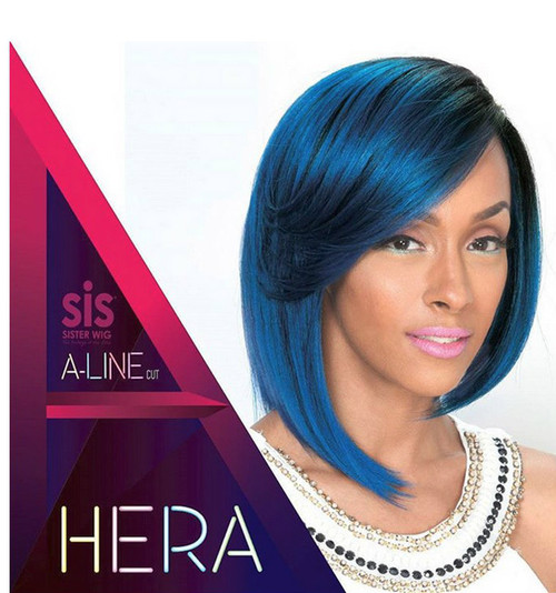 Sister Wig Angled Style A-Line Cut Synthetic Wig- A LINE-H HERA