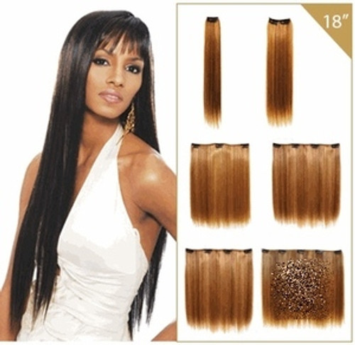 "Beverly Johnson Vivica Fox Premium Synthetic Hair (Futura) Clip Weave- 18"""