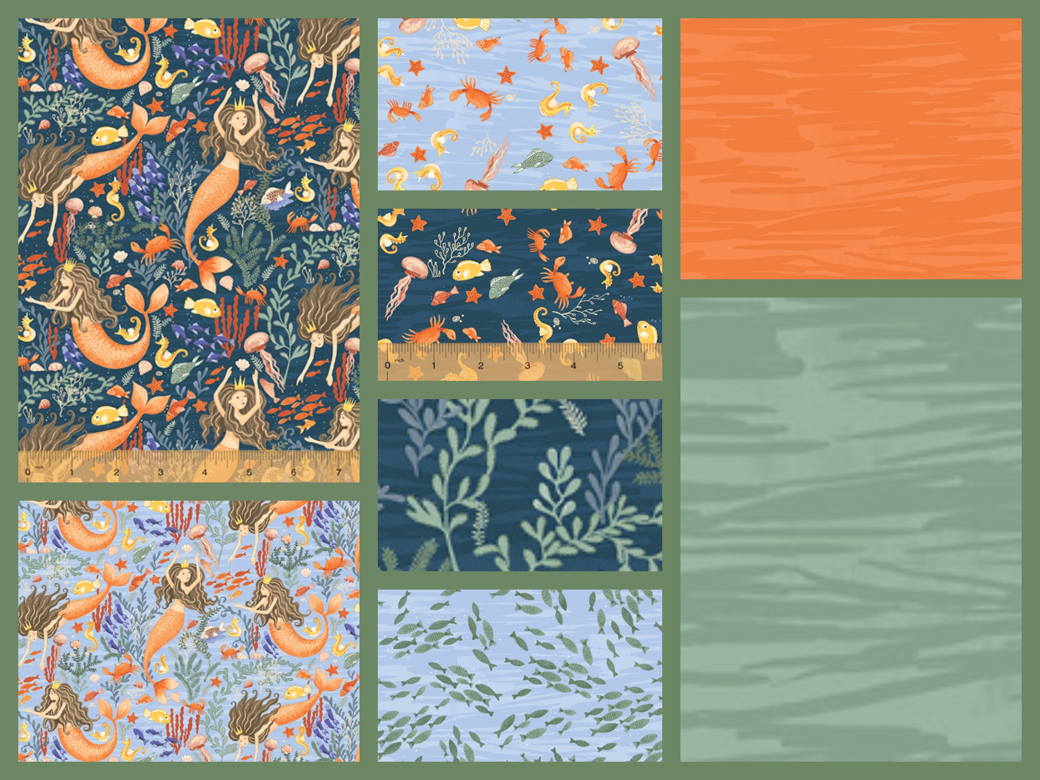 Mermaids Fabric Collection