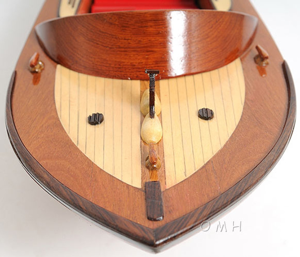 Wooden Runabout Boat Small Version