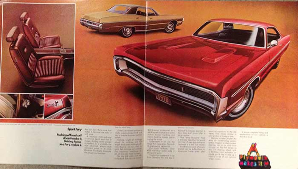 1970 Plymouth Fury 18-Page Color Dealer Brochure